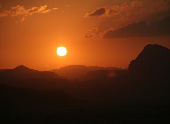 zonsondergang wadi rum