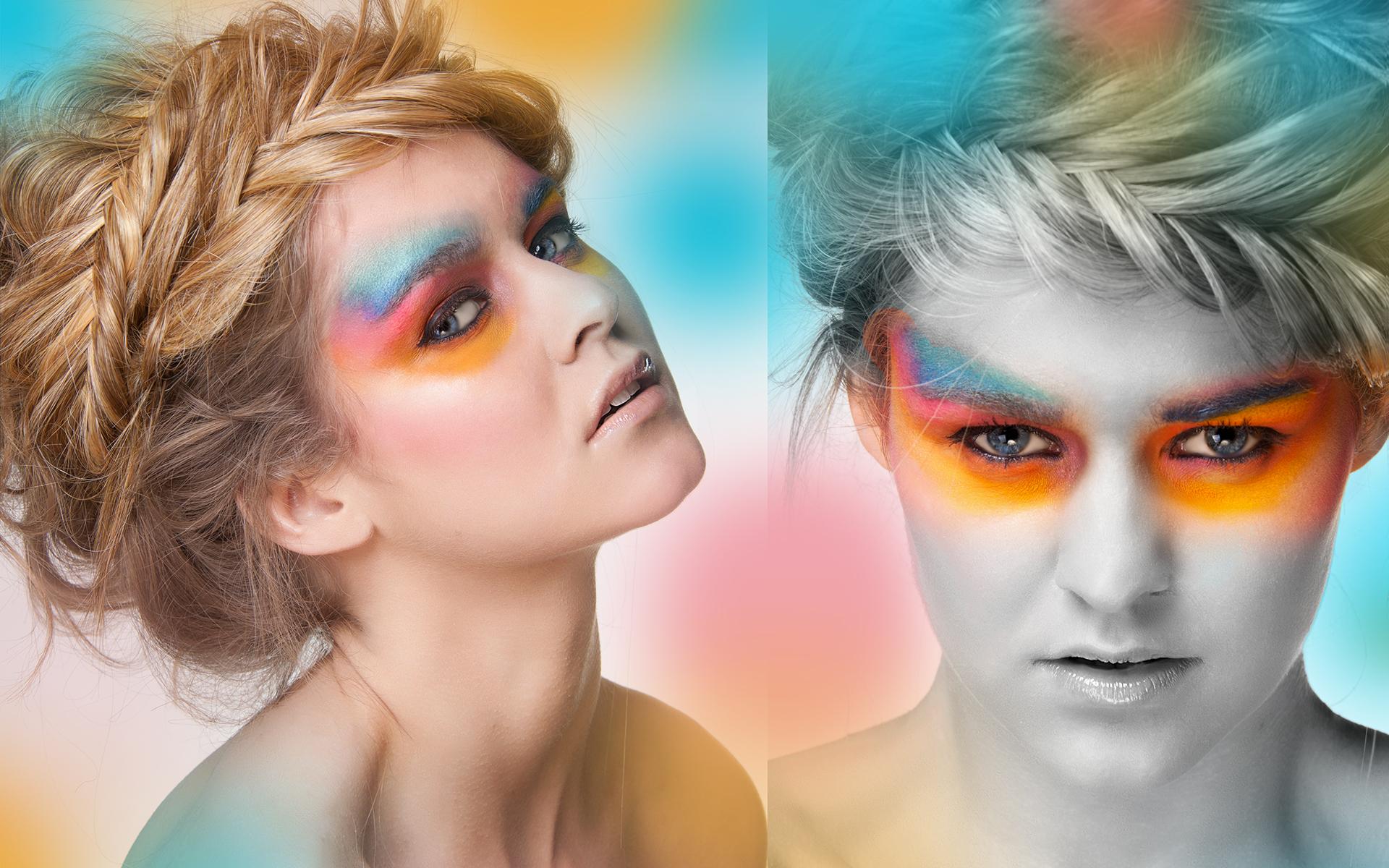 colorful portret